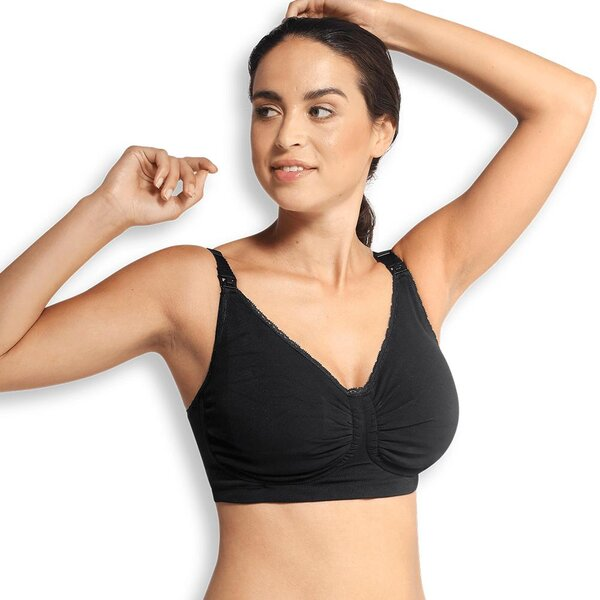 Carriwell Padded GelWire Nursing Bra, M black - Carriwell