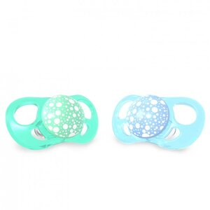 Twistshake 2x Pacifier 6+m Pastel Blue Green Green  - Twistshake