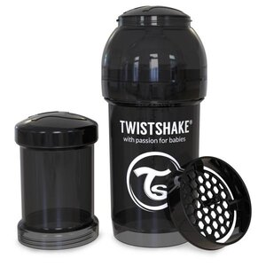Twistshake Anti-Colic 180ml Black Black  - Twistshake
