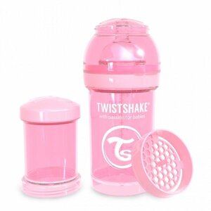 Twistshake Anti-Colic 180ml Pastel Pink Pink  - Twistshake
