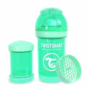 Twistshake Anti-Colic 180ml Pastel Green Green  - Twistshake
