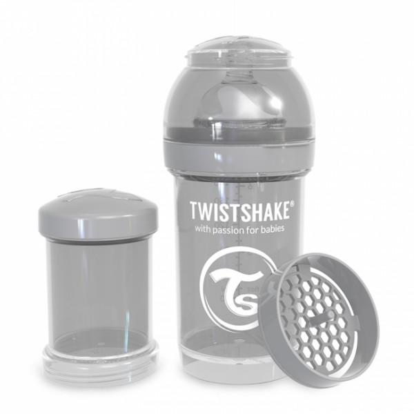 Twistshake Anti-Colic 180ml Pastel Grey - Twistshake