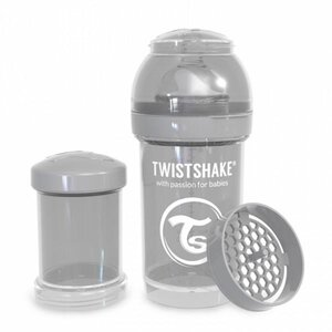 Twistshake Anti-Colic 180ml Pastel Grey Grey  - Twistshake
