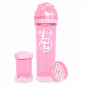 Twistshake Anti-Colic 330ml Pastel Pink Pink  - Twistshake