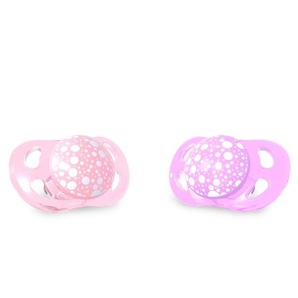 Twistshake 2x Pacifier 0-6m Pastel Pink Purple Purple  - Twistshake