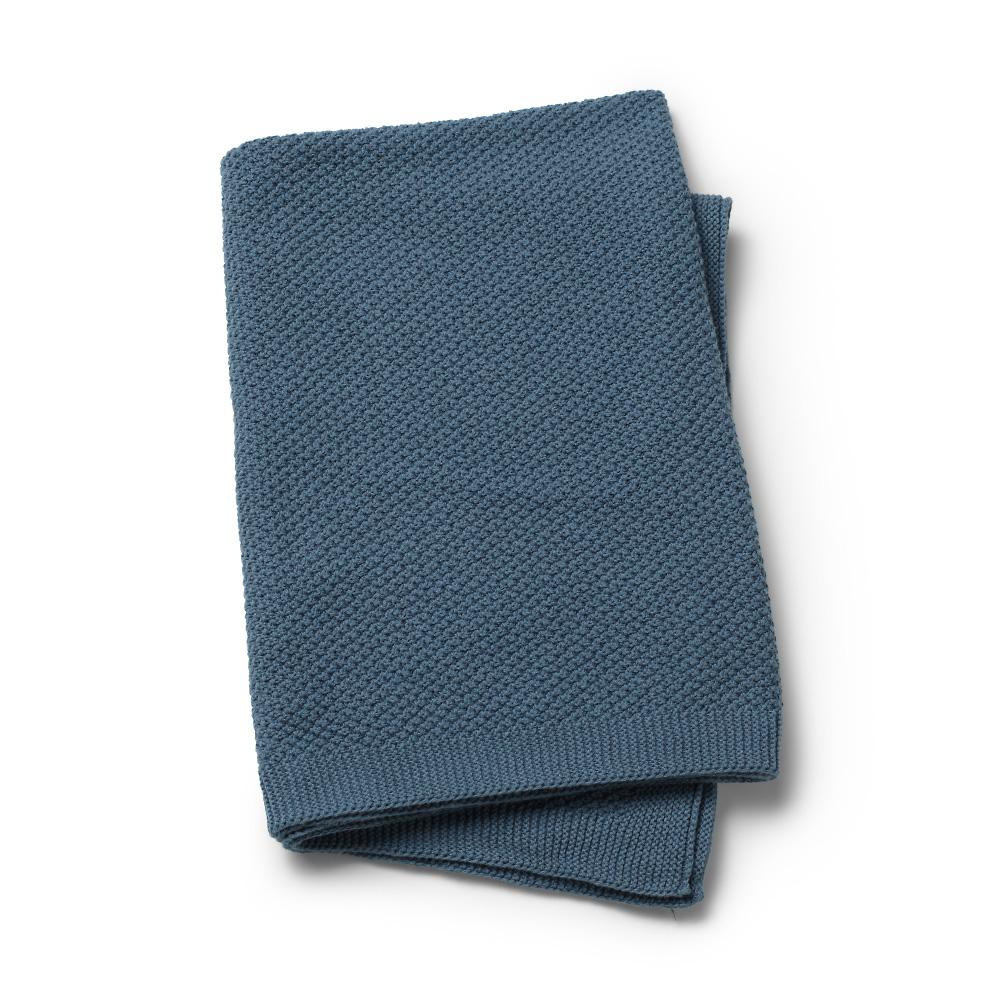 Elodie Details Moss-Knitted Blanket - Tender Blue Blue One Size - Elodie Details