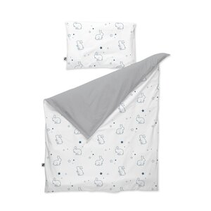 Nordbaby Bedding Set 100x130cm, Grey/Navy - Nordbaby