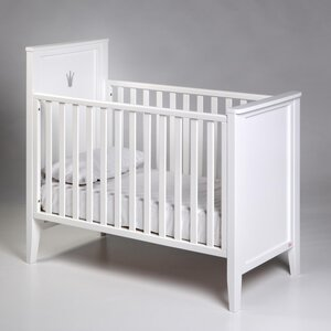 Troll (Little Footprint) Troll Royal Cot With Crown 120x60cm, White - Troll (Little Footprint)