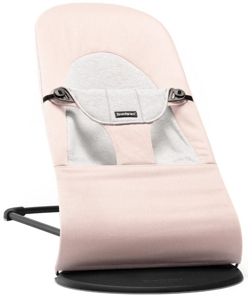 BabyBjörn BB Bouncer Balance Soft Light Pink/Grey, Cotton Jersey - BabyBjörn