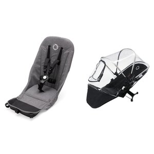 Bugaboo Donkey2 duo Fabric Set Grey Melange - Bugaboo