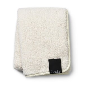 Elodie Details Pearl Velvet Blanket - Shearling One Size White - Elodie Details