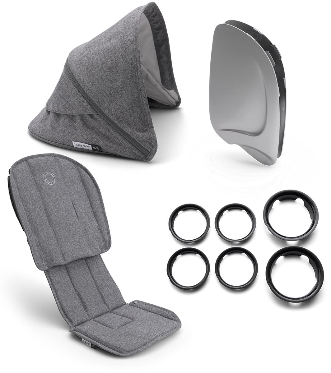 Bugaboo Ant travel stroller Grey Melange, Black frame ...