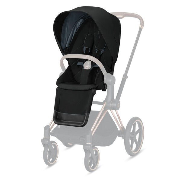 Cybex Priam vankrikomplekt Deep Black,matt black raamiga+Cloud Z PLUS Deep Black-Cybex