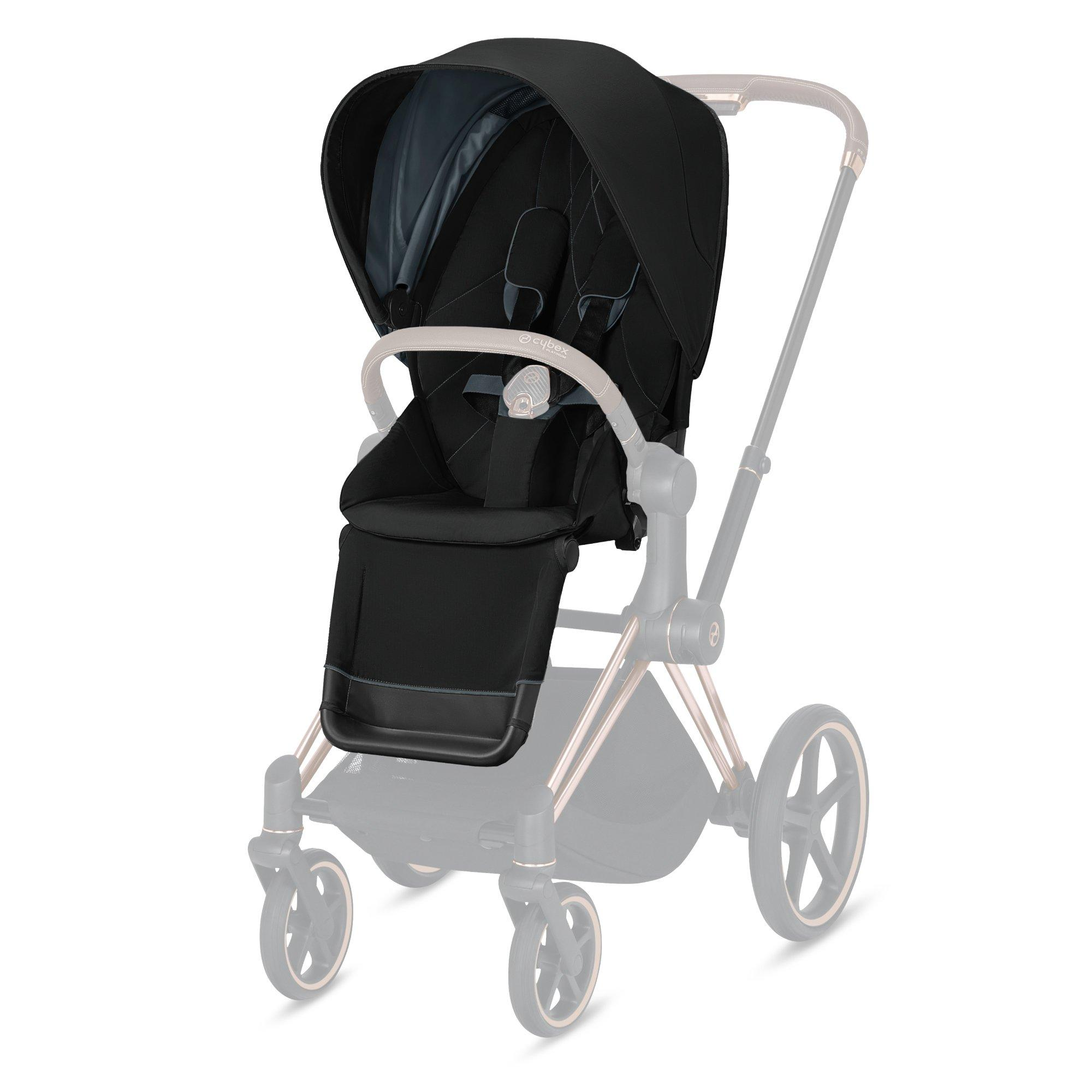 Cybex Priam vankrikomplekt Deep Black,matt black raamiga+Cloud Z PLUS Deep Black - Cybex