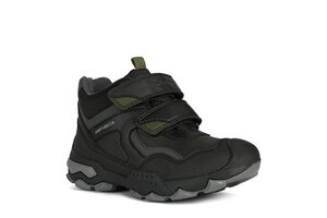 Geox J BULLER BOY B ABX 26 BLACK/MILITARY - Geox