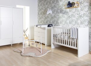 Childhome Quadro white chest 3dr + changing unit  - Childhome