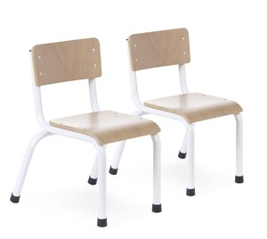 Childhome small metal wood chair 2pcs Natural/White - Childhome