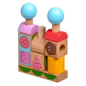 Lucy & Leo medinis žaislas Figures & Emotions Smart stacker - Lucy & Leo