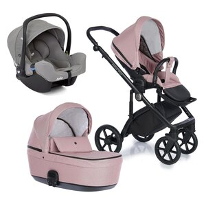 Nordbaby Nord Active Plus Stroller Set Misty Rose, Onyx - Nordbaby