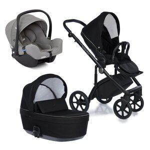 Nordbaby Nord Active Plus Stroller Set Raven, Onyx - Nordbaby