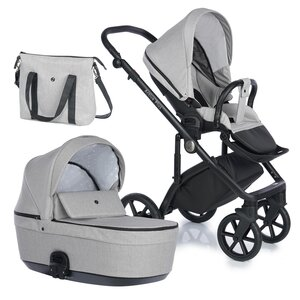 Nordbaby Nord Active Plus Stroller Set Desert Taupe, Onyx - Nordbaby