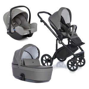 Nordbaby Nord Active Plus Stroller Set Shadow Grey, Onyx - Nordbaby