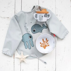 Done by Deer sleeved bib Sleeved bib 6-18m Sea friends - Done by Deer