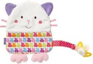Fehn cuddlefriend cat with pacifier ring, Happiness - Elodie Details