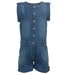 Minymo Anna 73 -Denim jumpsuit -short 110 Blue Denim - Minymo
