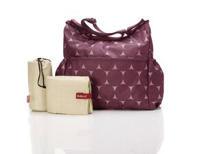 BabyMel Big Slouchy changing bag Jumbo Dot Cherry - Storksak