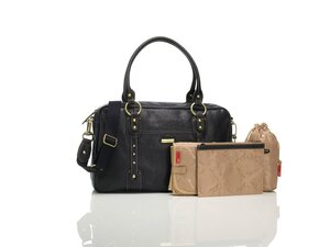 Storksak Elizabeth leather bag Black - Storksak